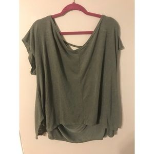 Forever 21 cotton T-shirt with cutout back